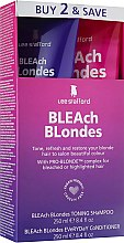 Духи, Парфюмерия, косметика Набор - Lee Stafford Bleach Blonde (shm/250ml + cond/250ml)
