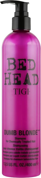 Шампунь для обесцвеченных и поврежденных волос - Tigi Bed Head Dumb Blonde Shampoo