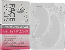 Духи, Парфюмерия, косметика Патчи под глаза гелевые - Face Facts Target Dark Circles Gel Eye Patches