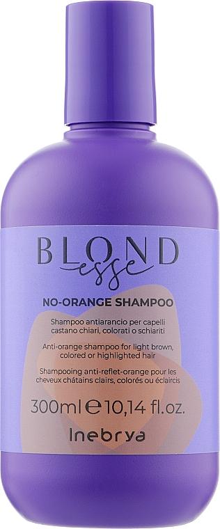 Шампунь для окрашенных волос против оранжевого цвета - Inebrya Blondesse No-Orange Shampoo