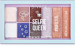 "Духи, Парфюмерия, косметика Палетка теней для век ""Selfie Queen"" - Divage Basics Eye & Face Palette"