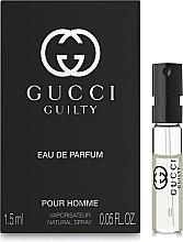 Духи, Парфюмерия, косметика Gucci Guilty Eau de Parfum Pour Homme - Парфюмированная вода (пробник)