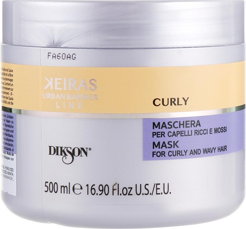 Маска для кудрявых волос - Dikson Keiras Urban Barrier Curly Mask