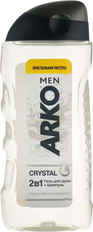 Гель для душа 2в1 - Arko Men Crystal