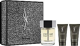 Духи, Парфюмерия, косметика Yves Saint Laurent YSL L'Homme - Набор (edt/100ml + sh/gel/50ml + a/sh/balm/50ml)