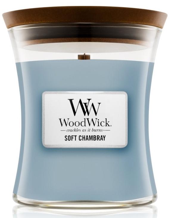 Ароматическая свеча в стакане - WoodWick Hourglass Candle Soft Chambray