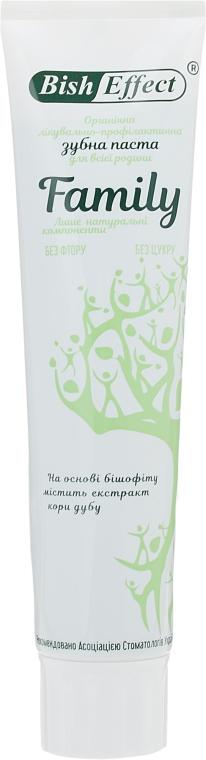 Органическая лечебно-профилактическая зубная паста Family - Bisheffect