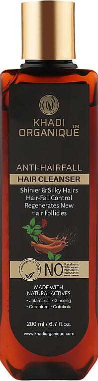 Натуральный аюрведический шампунь от выпадения и ломкости волос без сульфатов - Khadi Organique Anti-HairFall Hair Cleanser