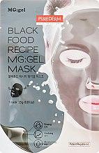 Духи, Парфюмерия, косметика Маска питательная с черным комплексом для лица на тканевой основе с гелевой пропиткой - Purederm Black Food Recipe Gel Mask