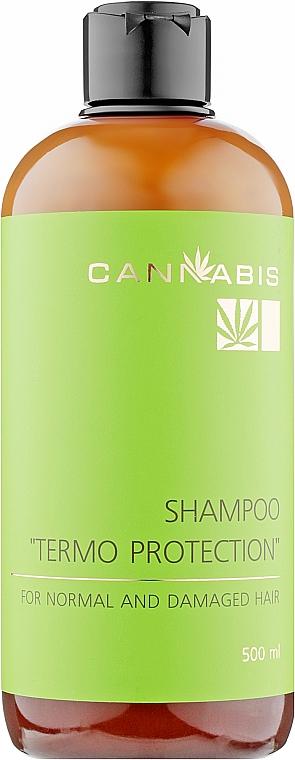 "Безсульфатний шампунь для волос «Термозащита» - Cannabis Shampoo ""Termo Protection"" For Normal And Damaged Hair"