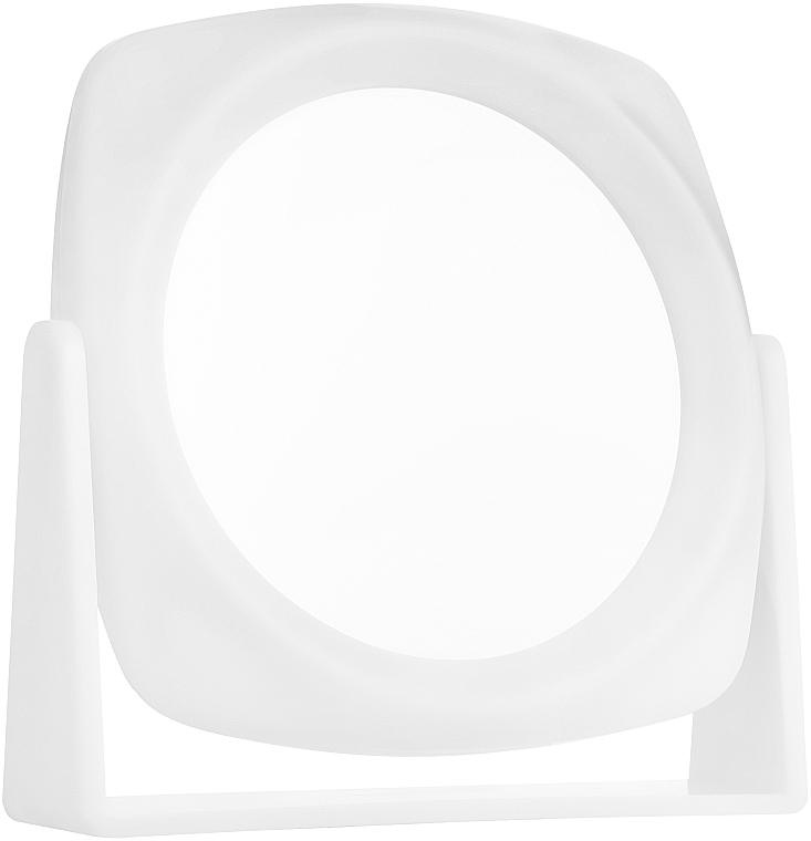 Косметическое зеркало двухстороннее, 15х15см, белое - Titania