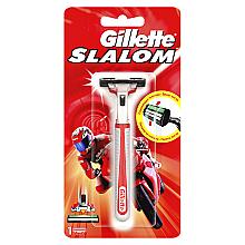 Духи, Парфюмерия, косметика Бритва с 1 сменной кассетой - Gillette Slalom