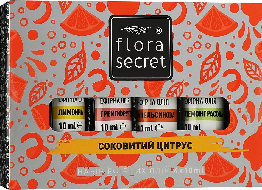 """Набор эфирных масел """"Сочный цитрус"""" - Flora Secret (oil/4x10ml)"""