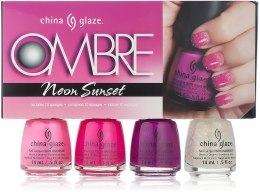 Парфумерія, косметика Набір лаків - China Glaze Ombre Neon Sunset
