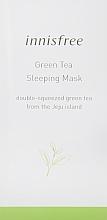Духи, Парфюмерия, косметика Увлажняющая ночная маска с экстрактом зеленого чая - Innisfree Green Tea Sleeping Mask (пробник)