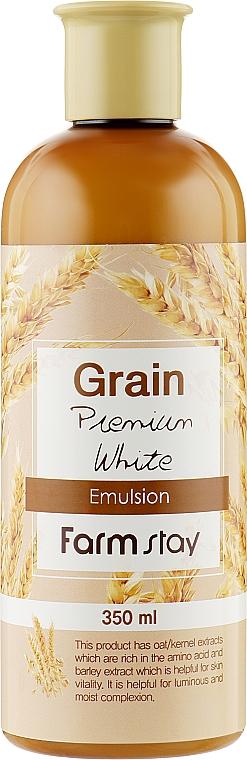 Питательная эмульсия для лица с экстрактами ростков пшеницы - FarmStay Grain Premium White Emulsion