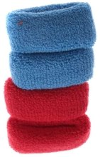 Духи, Парфюмерия, косметика Набор резинок для волос, 7582, 4шт синие + красные - Reed