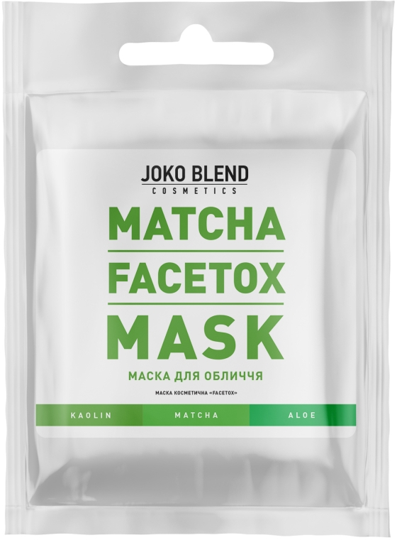 Маска для лица с экстрактом зеленого чая - Joko Blend Matcha Facetox Mask