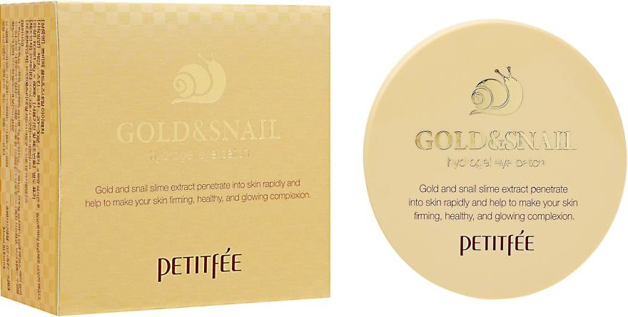 Гидрогелевые патчи для глаз с золотом и улиткой - Petitfee&Koelf Gold & Snail Hydrogel Eye Patch