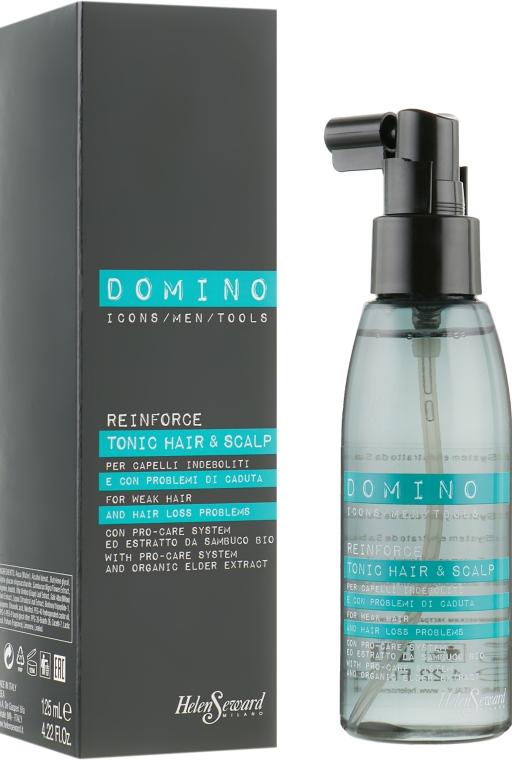 Укрепляющий тоник с органическим экстрактом бузины - Helen Seward Domino Care Reinforce Tonic Hair&Scalp