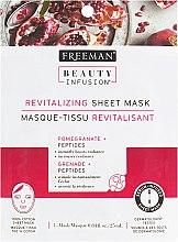 """Духи, Парфюмерия, косметика Тканевая маска для лица """"Гранат и пептиды"""" - Freeman Beauty Infusion Revitalizing Sheet Mask"""