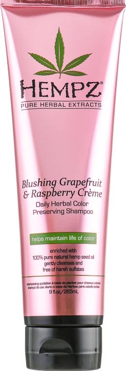"""Шампунь """"Грейпфрут и малина"""" для сохранения цвета и блеска окрашенных волос - Hempz Blushing Grapefruit & Raspberry Creme Shampoo"""