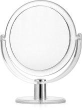 Духи, Парфюмерия, косметика Двостороннє косметичне дзеркало врамі, d 16 см - Titania