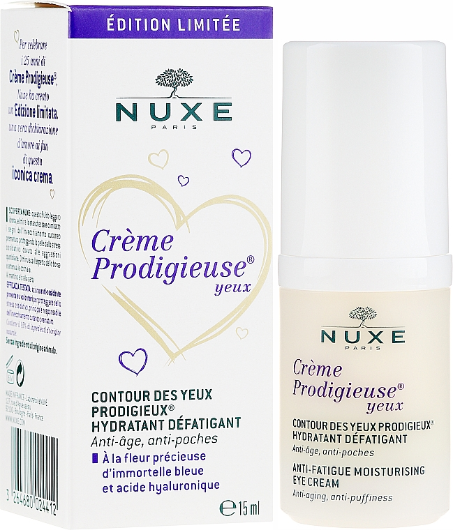 Чудесное средство для контура глаз - Nuxe Creme Prodigieuse Contour Des Yeux Anti-Fatigue Moisturizing Eye Cream Edition Limitee