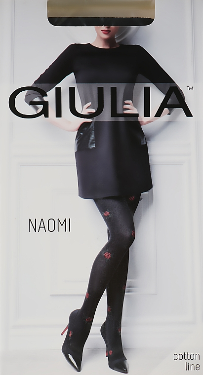 "Колготки ""Naomi Model 1"" 150 Den, nero/red - Giulia"