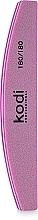 "Духи, Парфюмерия, косметика Баф для ногтей ""Полумесяц"" - Kodi Professional Pink, 180/180"