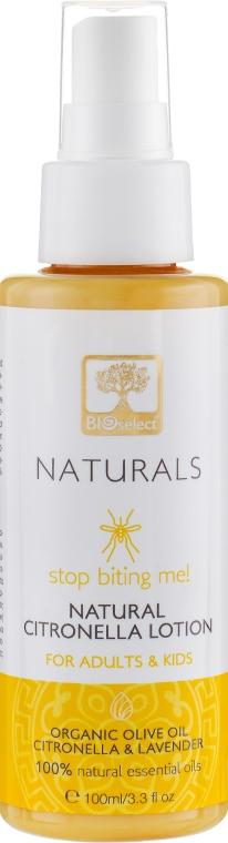 Лосьон с цитронеллой для взрослых и детей от укусов насекомых - BIOselect Naturals Citronella Lotion