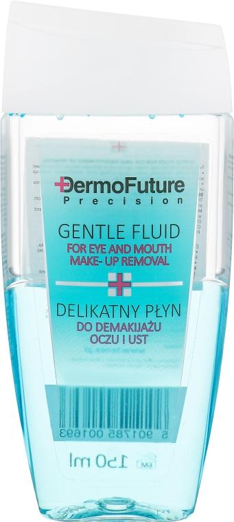 Мягкое двухфазное средство для снятия макияжа с глаз и губ - Dermo Future Gentle Fluid