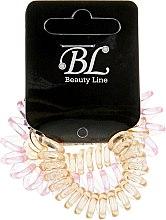 Духи, Парфюмерия, косметика Набор резинок для волос, 405004, прозрачно-малиновая+прозрачно-оранжевая+прозрачно-оранжевая - Beauty Line