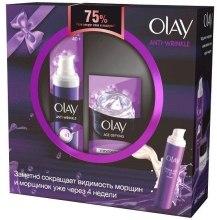 Духи, Парфюмерия, косметика Набор - Olay Anti-Wrinkle (cr/serum/50ml + eye/gel/15ml)