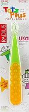 Духи, Парфюмерия, косметика Зубная щетка детская, зелено-желтая - Radius Tots Plus Toothbrush