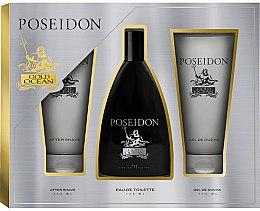 Духи, Парфюмерия, косметика Instituto Español Poseidon Gold - Набор (edt/150ml+ash/balm/150ml+sh/gel/150ml)