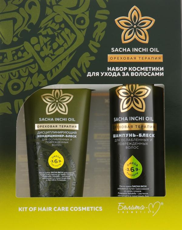 "Набор косметики ""SACHA INCHI OIL"" - Белита-М Shampoo & Condicioner (shmp/400ml + cond/200ml)"