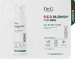 Духи, Парфюмерия, косметика Флюид для мужчин для чувствительной кожи - Dr.G Red Blemish For Men All In One Fluid (пробник)