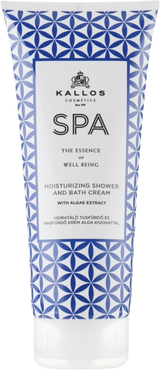 Крем-гель для душа - Kallos SPA Moisturizing Shower and Bath Cream With Algae Extract