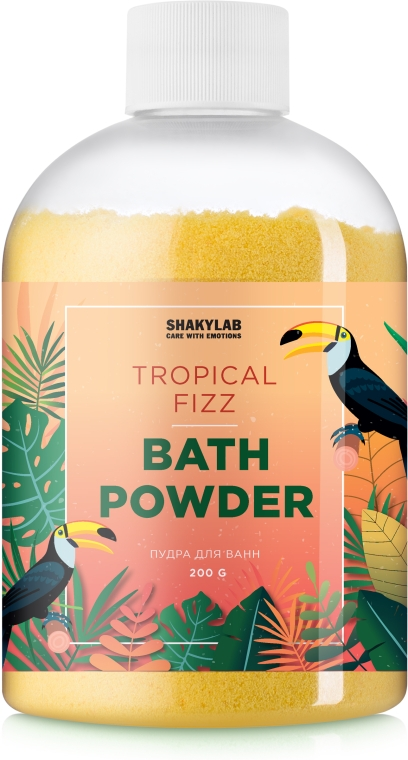 Пудра для ванны «Tropical Fizz» - SHAKYLAB Magic Bath Powder