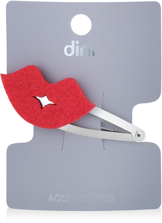 "Заколка для волос ""Губы"", d-283 - Dini Hand Made"