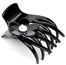 Духи, Парфюмерия, косметика Заколка-краб для волос 234, черная с камнем - Moliabal Milano Hair Clip