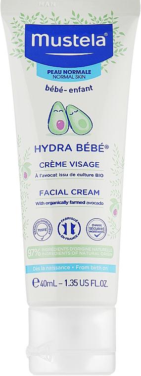 Увлажняющий крем для детской кожи - Mustela Hydra Bebe Visage