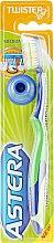 Духи, Парфюмерия, косметика Зубная щетка средней жесткости, сине-зеленая - Astera Twister Toothbrush (Medium)
