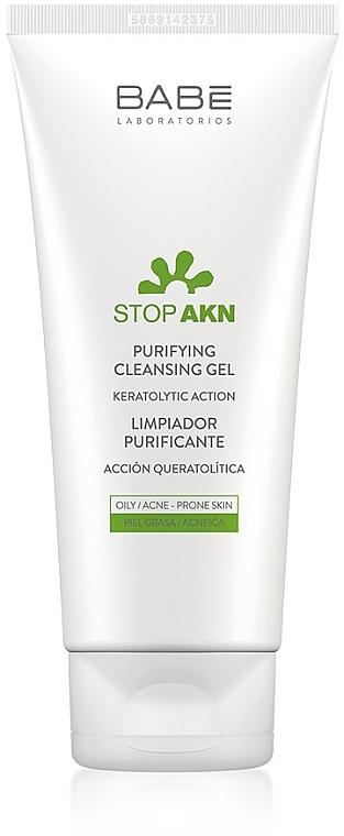 Очищающий гель для жирной, комбинированной и проблемной кожи - Babe Laboratorios Purifying Cleansing Gel
