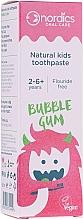 """Духи, Парфюмерия, косметика Детская зубная паста """"Бабл гам"""" со вкусом жевательной резинки - Nordics Natural Kids Bubble Gum Toothpaste"""
