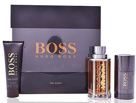 Hugo Boss The Scent - Набор (edt/100ml + sh/gel/50ml +deo/stick/75g) — фото N1