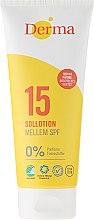 Духи, Парфюмерия, косметика Лосьон для загара солнцезащитный - Derma Sun Lotion SPF 15