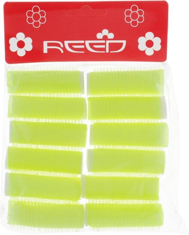 Бигуди-липучки с валиком, 15 мм, желтые - Reed Curlers