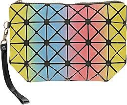 Духи, Парфюмерия, косметика Косметичка, черная с разноцветными треугольниками - Элита